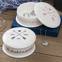 Romantic Arrows Personalized Jewelry Box