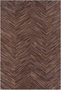 Surya Zander Hair on Hide 8' x 10' Area Rug in Dark Brown