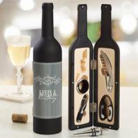 Hampton Wine Bottle Personalized Wine Accessory 5pc Kit