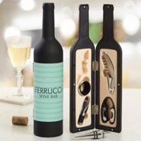 Stripe Wine Bottle Personalized Wine Accessory 5pc Kit