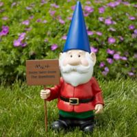 Gary Garden Gnome with Personalized Greeting Sign