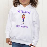 Sister Character Personalized Toddler Hooded Sweatshirt