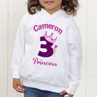 Birthday Princess Personalized Toddler Hooded Sweatshirt