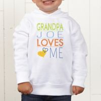 Look Who Loves Me Personalized Toddler Hooded Sweatshirt