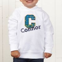 His Name Personalized Toddler Hooded Sweatshirt