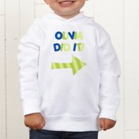 They Did It! Personalized Toddler Hooded Sweatshirt
