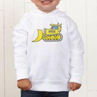 Construction Trucks Personalized Toddler Hooded Sweatshirt