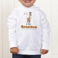 Lovable Giraffe Personalized Toddler Hooded Sweatshirt