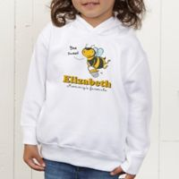 Lovable Bee Personalized Toddler Hooded Sweatshirt