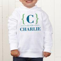 Name Bracket Personalized Toddler Hooded Sweatshirt