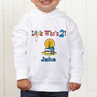 Birthday Kid Personalized Toddler Hooded Sweatshirt