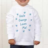 Somebody Loves Me Personalized Toddler Hooded Sweatshirt