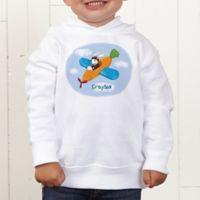 Retro Rabbit Personalized Toddler Hooded Sweatshirt