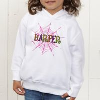Spider Webs for Her Personalized Toddler Hooded Sweatshirt