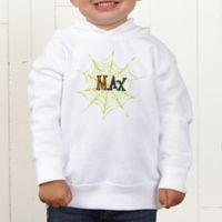 Spider Webs For Him Personalized Toddler Hooded Sweatshirt