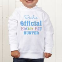 Official Egg Hunter Personalized Toddler Hooded Sweatshirt
