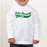 Father & Son Team Personalized Toddler Hooded Sweatshirt