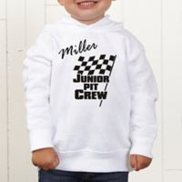 Pit Crew Personalized Toddler Hooded Sweatshirt