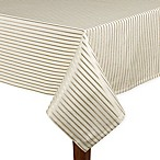 kate spade new york Harbour Drive 60-Inch x 102-Inch Oblong Tablecloth in Gold Stripe