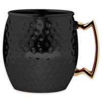 Hammered Moscow Mule Mugs in Black (Set of 2)