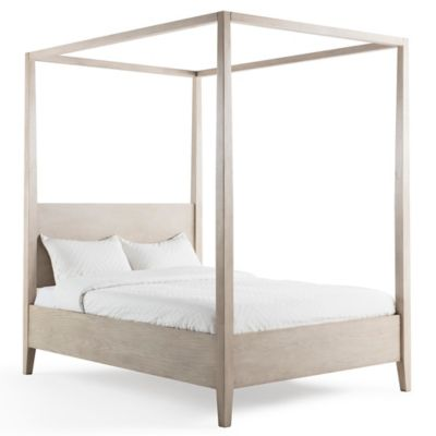 Bee u0026 Willow™ Home Full Wood Canopy Bed in Natural  sc 1 st  Bed Bath u0026 Beyond : full bed canopy - afamca.org