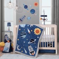 Lambs & Ivy® Milky Way 4-Piece Crib Bedding Set in Blue/Grey