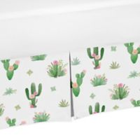 Sweet Jojo Designs Cactus Floral Queen Bed Skirt