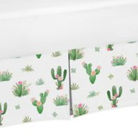 Sweet Jojo Designs Cactus Floral Crib Bed Skirt
