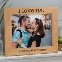 I Love Us Engraved Wood 8-Inch x 10-Inch Picture Frame