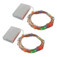 Lumabase 5.5-Foot 100-Bulb Submersible Fairy String Lights (Set of 2)