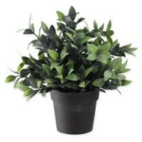 Northlight 8.5-Inch Artificial Green Spring Foliage in Brown Pot