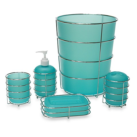 Wire Ware Lotion Dispenser in Aqua