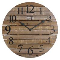 FirsTime & Co.® Barn Wood Wall Clock in Brown