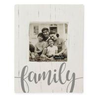 Mudpie© Family Wood Block 4.5-Inch x 4.5-Inch Photo Frame