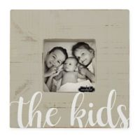 Mudpie© Kids Wood Block 4-Inch x 4-Inch Photo Frame