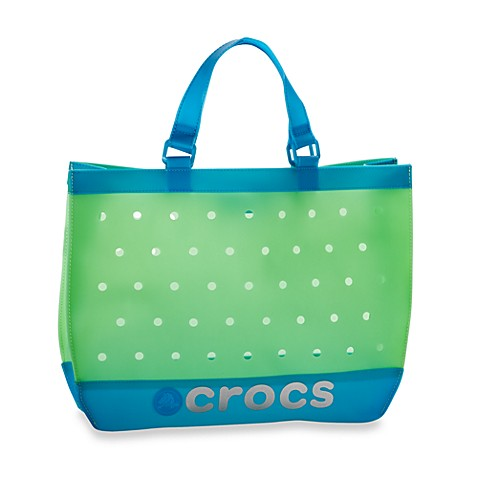 Crocs™ Translucent Tote in Blue/Green
