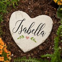 """Let Love Grow"" Small Heart Garden Stone"