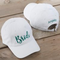 Bridal Party Embroidered White Baseball Cap