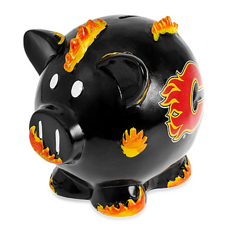 Buy nhl calgary flames resin piggy bank from bed bath beyond - Resin piggy banks ...