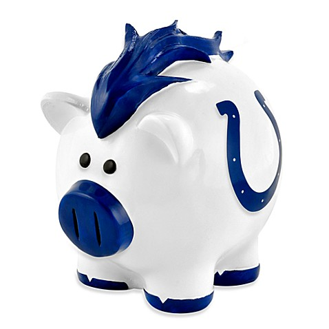 Nfl indianapolis colts resin piggy bank bed bath beyond - Resin piggy banks ...