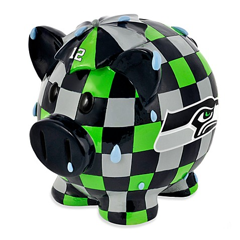 NFL Seattle Seahawks Resin Piggy Bank
