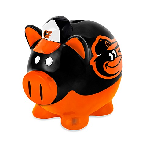 Baltimore orioles resin piggy bank buybuy baby - Resin piggy banks ...
