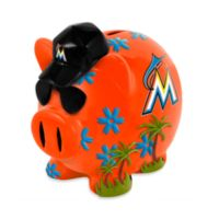 Miami Marlins Resin Piggy Bank
