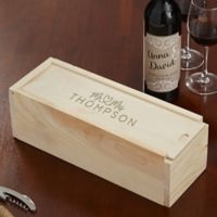 Infinite Love Engraved Wedding Wood Wine Box