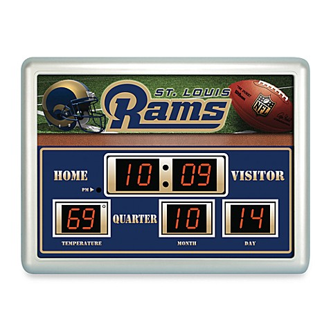 Buy Nfl St Louis Rams Indoor Outdoor Scoreboard Wall