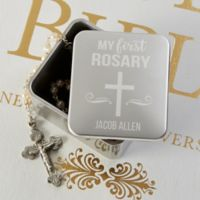 My First Rosary Personalized Keepsake Box
