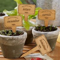Vegetable Garden Personalized Wood Plant Marker Set