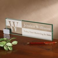Sophisticated Style Personalized Glass Nameplate