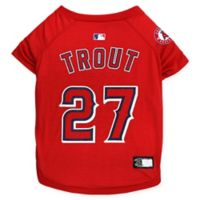 MLB Los Angeles Angels Mike Trout Large Pet T-Shirt