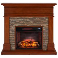 Southern Enterprises Hennington Media Infrared Fireplace in Stone